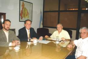 El Secretario de Estado de Miner�a, Ing. Felipe Saavedra con Directivos de la empresa VALE
