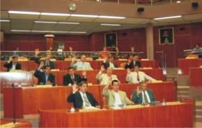 Legisladores votando el rechazo al pedido de juicio político al cortista Balaguer