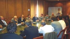El secretario de Minería de la Nación, Jorge Mayoral; el titular de Desarrollo Comercial y Pymes de la BCBA, Carlos Lerner, funcionarios y empresarios.