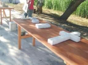 Objetos realizados por los asistentes al curso de capacitación