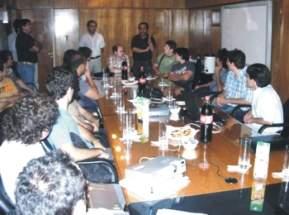 Estudiantes del ISRI en las oficinas de Barrick