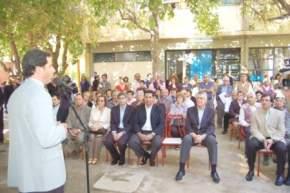 Dirige la palabra el Intendente de Pocito, Sergio Uñac