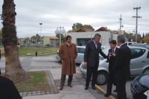 Llegan al Centro de Convenciones el gobernador Gioja, acompañado por el vicegobernador Uñac y el vicejefe de Gabinete de Ministros de la Nación, Abal Medina