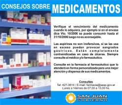 CONSEJOS SOBRE MEDICAMENTOS
