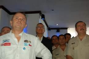 Etienne Lavigne (director del Dakar), gobernador José Luis Gioja, Ricardo Meritello, Carlos Villarreal y Brigadier Juan Herrera (Gendarmería Nacional)