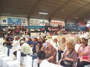 En el polideportivo del Club Atlético Unión se realizó el cierre del Ciclo 2009 del Cine Móvil Escolar de la Biblioteca Popular Sur