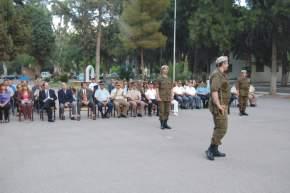 Presentación del nuevo 2º jefe del RIM 22, Mayor Jorge Zani