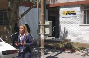 Dirige la palabra la gerente comercial del Banco San Juan S.A., Silvina Bellantig