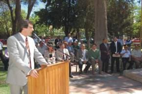 El vicegobernador de la provincia en ejercicio del P.Ejecutivo, José Rubén Uñac transmitió el saludo del Gobernador Gioja