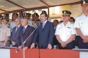 El vicegobernador en ejercicio del P.Ejecutivo, José Rubén Uñac transmite el saludo del gobernador Gioja