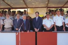 Dirige la palabra el ministro de Gobierno, Lorenzo Emilio Fernández