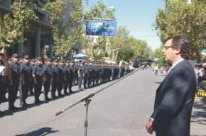 El Vicegobernador en ejercicio del P.Ejecutivo, José Rubén Uñac, toma juramento a los aspirantes a Agentes de Policía