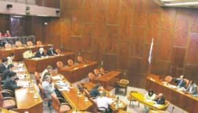 Vista general de la sesión en que rechazaron el juicio político a los miembros de la Corte de Justicia, al fiscal general y a un juez