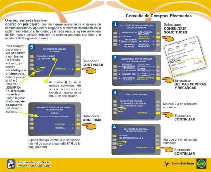 Osp lanza nuevo servicio de rdenes por cajeros for Cajeros link cercanos