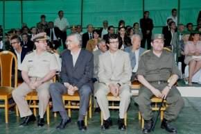 Autoridades de Gendarmer�a y de la Provincia en el palco oficial