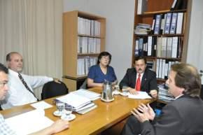 Reunión de la Comisión de Justicia y Seguridad con uno de los ternados al cargo vacante de juez