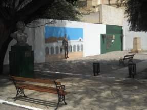 Mural realizado en la Celda Histórica de San Martín por el artista sanjuanino Jorge Rodriguez