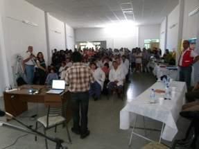 Participaron unos 70 alumnos de la Escuela de Educación Especial Abejitas y de la Escuela Agrotécnica Manuel Belgrano