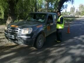 Patrulla móvil de Barrick efectúa controles de velocidad, alcoholemia y que vehículos relacionados con la compañía respeten normas de tránsito y seguridad