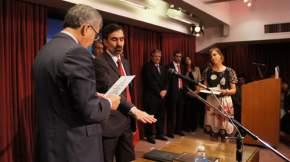 El Ministro De Vido toma juramento al Secretario de Minería, Jorge Mayoral