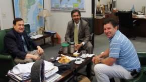 El secretario de Minería de la Nación, Jorge Mayoral recibió a Mario Capello, representante del CADIM