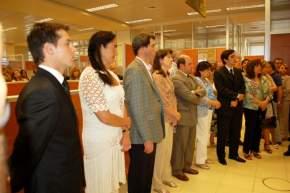 Los flamantes vocales, el Vicegobernador, la diputada nacional Caselles, diputados provinciales presentes