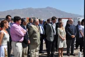 Autoridades en el Parque Industrial de Albardón