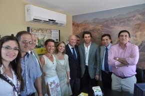 Directivos del Banco San Juan y Grupo Petersen, de Barrick y el vicegobernador Uñac, el ministro Saavedra y el intendente Abarca
