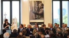Gobernadores en el acto con la Presidenta