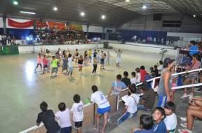 En el Club Unión de Rawson los jóvenes realizaban el Cierre de Alto Verano Inclusivo 2013