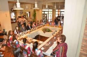 El gobernador Gioja con el vicegobernador Uñac compartieron el desayuno con las 19 candidatas