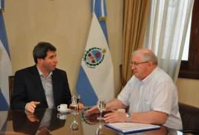 El vicegobernador de la Provincia, a cargo del Poder Ejecutivo, doctor Sergio Uñac, se reunió con Julio César Figueroa, titular de la UOM de San Juan