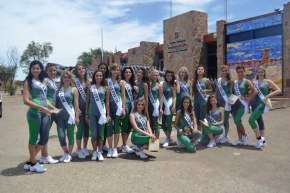 Las candidatas a Reina Nacional del Sol 2014 en Ischigualasto, departamento Valle Fértil