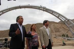 El vicegobernador Uñac con la intendente Ana María López de Herrera y el ministro de Turismo Dante Elizondo