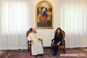 La Presidenta de Argentina y el Papa Francisco mantuvieron un distendido encuentro