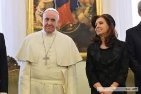 Durante la visita de más de 2 horas, Cristina y Francisco almorzaron a solas