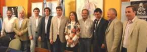 Autoridades que participaron de la conferencia de prensa