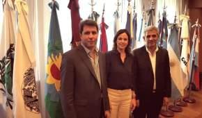 Gobernador Uñac, ministra de Desarrollo Social de la Nación Carolina Stanley y ministro Walberto Allende, de San Juan