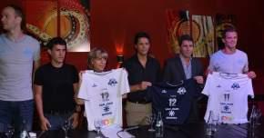Presentación de las camisetas del club de Vóley