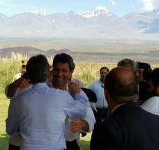 El gobernador Uñac saluda al presidente Mauricio Macri