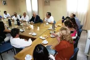 El vicegobernador Marcelo Lima con el bloque del FpV