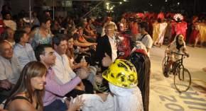 Mascaritas saludaron al gobernador Uñac y el intendente Gramajo