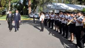 Pasan revista a los efectivos de la Policía de San Juan