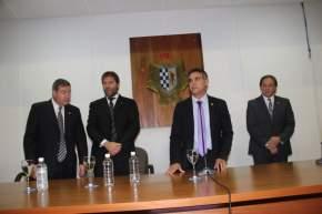 Acto en el Concejo Deliberante donde el intendente Aranda tomó juramento al nuevo Secretario de Gobierno