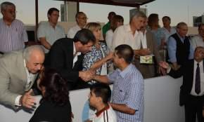 El gobernador Uñac junto al vicegobernador Marcelo Lima en la entrega de llaves de las viviendas