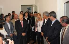 Acto con representantes de distintas instituciones que intervienen en el rescate de las víctimas de trata