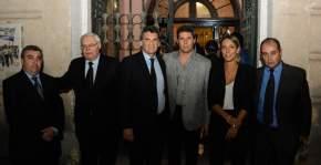 Los funcionarios nacionales de DDHH con el gobernador Uñac