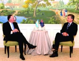 Mauricio Macri se reunió con el Primer Ministro de Nueva Zelanda