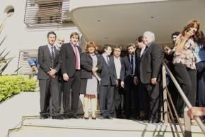 Recibe al gobernador Sergio Uñac la comisión de exterior
