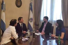 El Director Ejecutivo de la ANSES, Emilio Basavilbaso, mantuvo una reunión con el gobernador Sergio Uñac